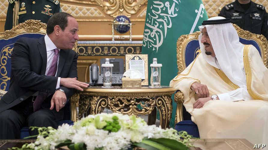 الرئيس المصري والعاهل السعودي في الرياض