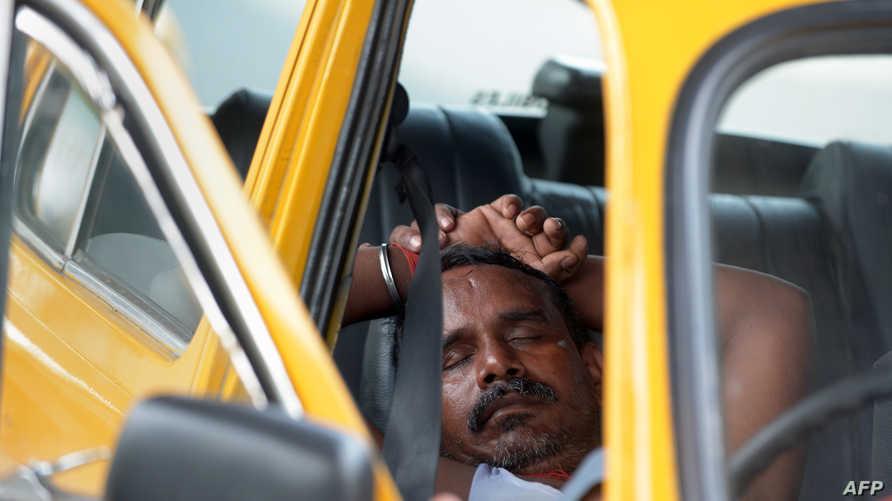 سائق سيارة أجرة في الهند