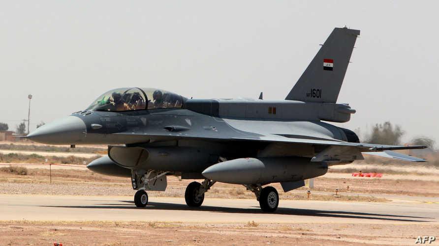 """طائرة من نوع """"F-16"""" تابعة لسلاح الجو العراقي"""
