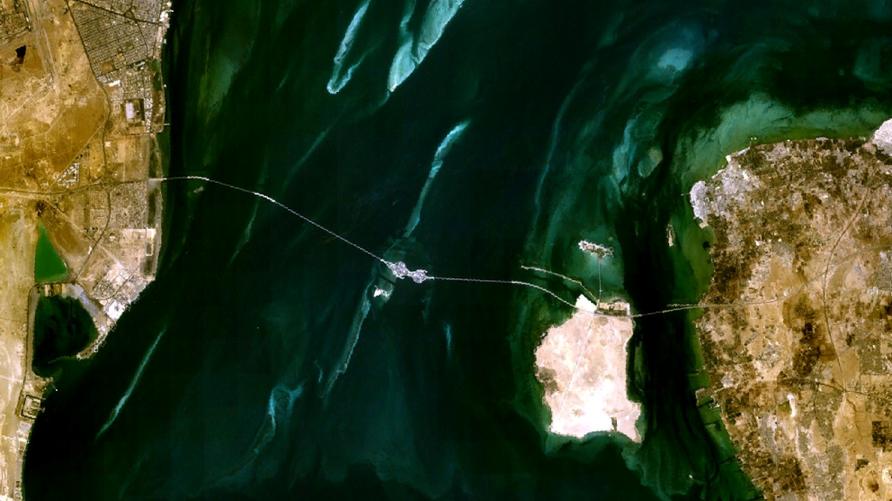 صورة بالأقمار الصناعية لجسر الملك فهد