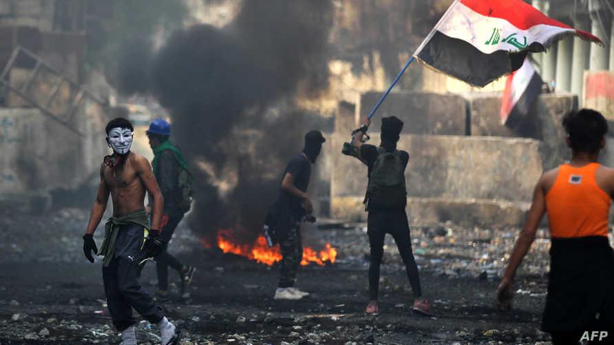 محتجون غاضبون في العاصمة العراقية