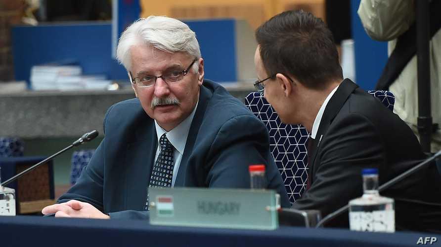 جانب من اجتماع وزراء خارجية الاتحاد الأوروبي في امستردام