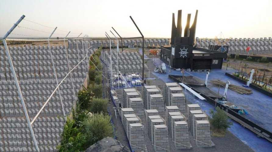 صورة نشرها حساب إسرائيل بالعربية قال إنها لموقع بناء النصب التذكاري للهولوكوست في المغرب