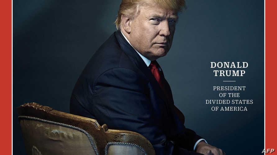 صورة الرئيس ترامب على غلاف مجلة تايم كشخصية للعام 2016