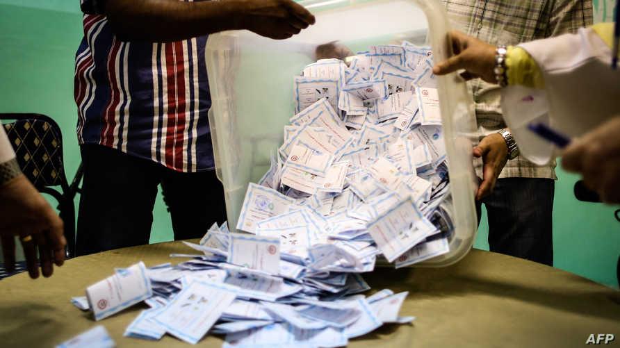 فرز الأصوات في انتخابات سابقة في مصر