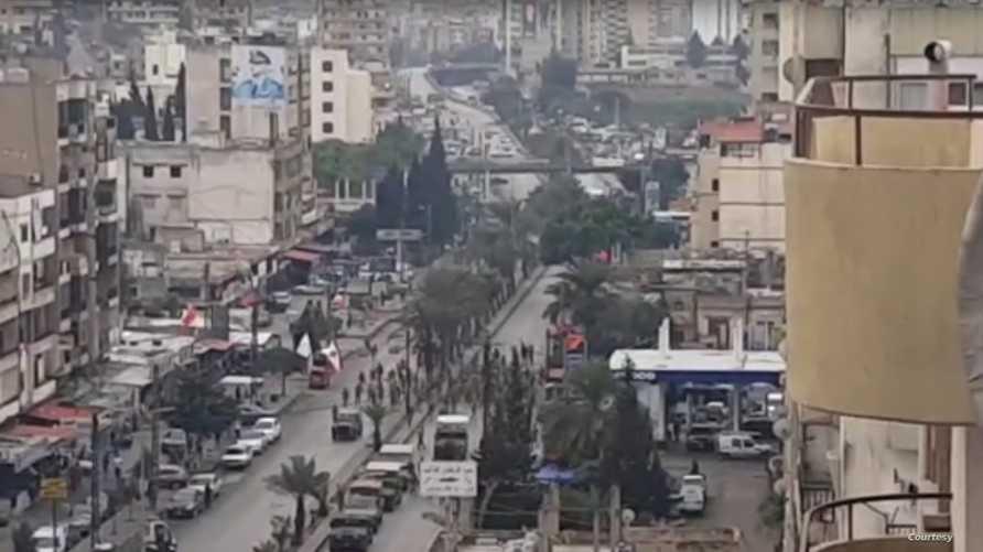 لحظة إطلاق النار من قبل الجيش اللبناني