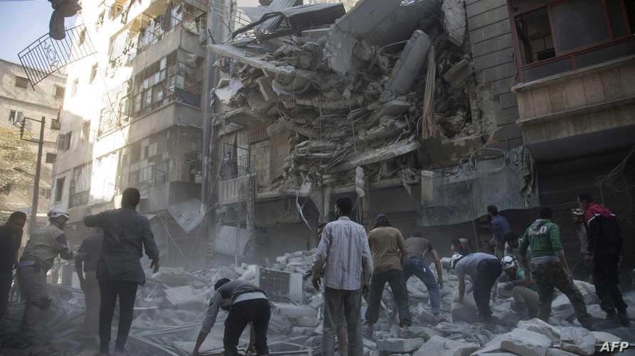دمار خلفه القصف الجوي على حلب_أرشيف