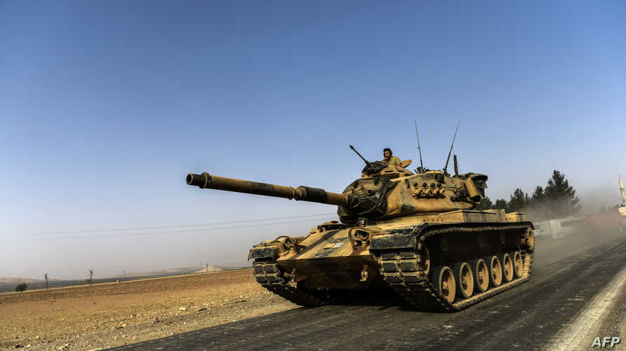 دبابة تركية مشاركة في عملية استعادة جرابلس