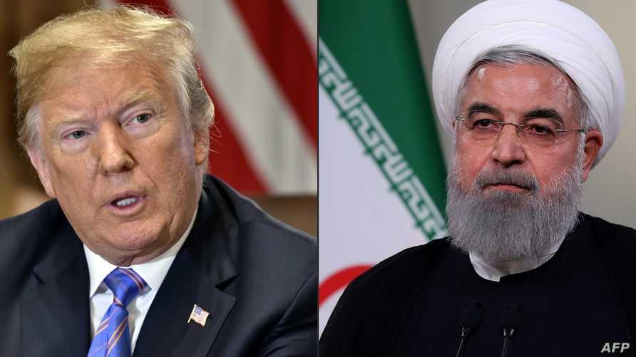 الرئيس الإيراني حسن روحاني والرئيس دونالد ترامب. أرشيفية