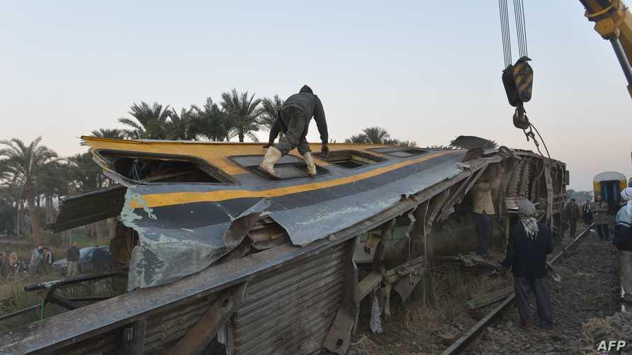 حادث قطار في القاهرة -أرشيف