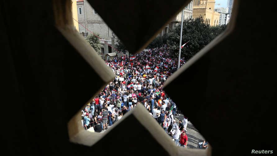 المظاهرات مستمرة في بيروت.