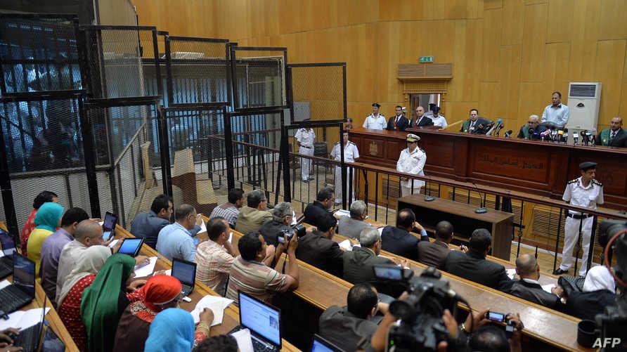 جانب من إحدى جلسات المحاكمة في مصر- أرشيف