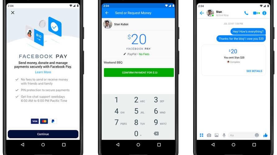 """""""فيسبوك باي"""" سوف يعمل على تأسيس نظام موحد الدفع عبر التطبيقات التابعة للشركة"""