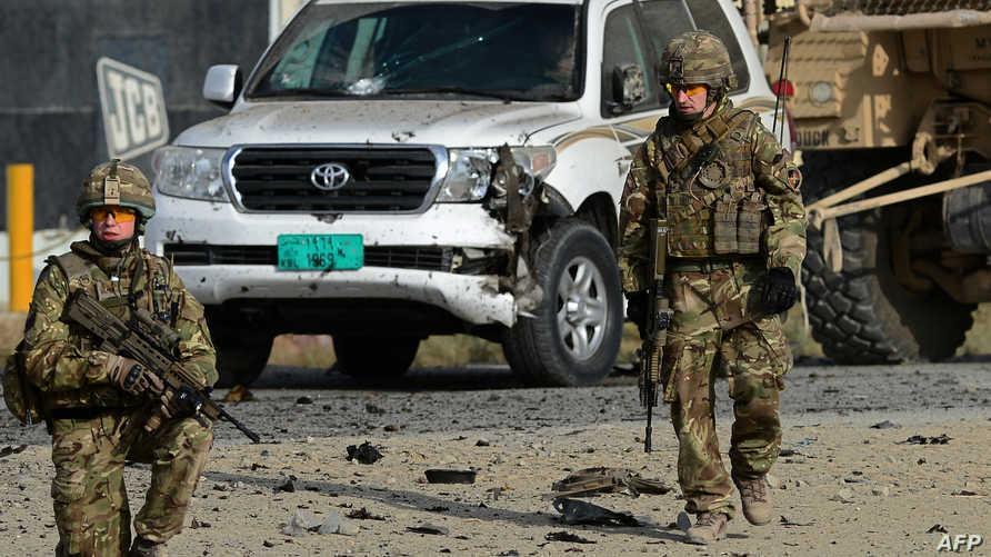 جنديان أميركيان في موقع هجوم انتحاري في أفغانستان- أرشيف