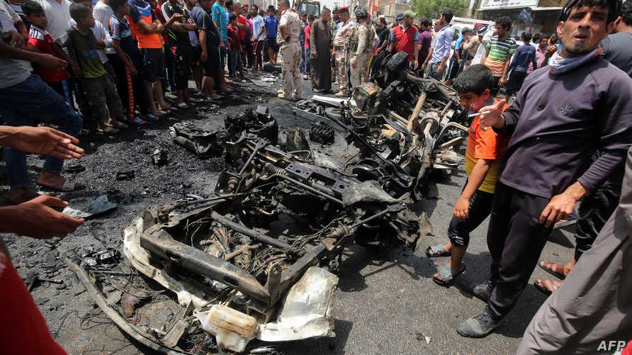 مخلفات التفجير في مدينة الصدر