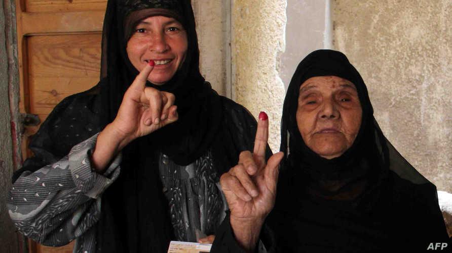 مصريتان مشاركتان في الانتخابات الرئاسية المصرية