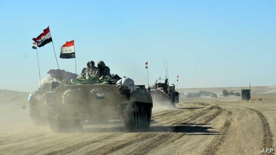مقاتلون من الحشد الشعبي عند الحدود السورية ـ العراقية