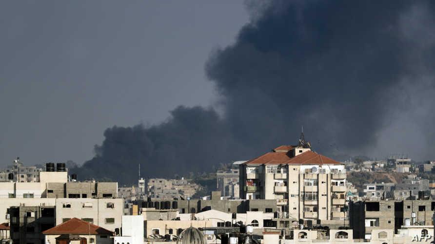 غارات إسرائيلية على قطاع غزة-أرشيف
