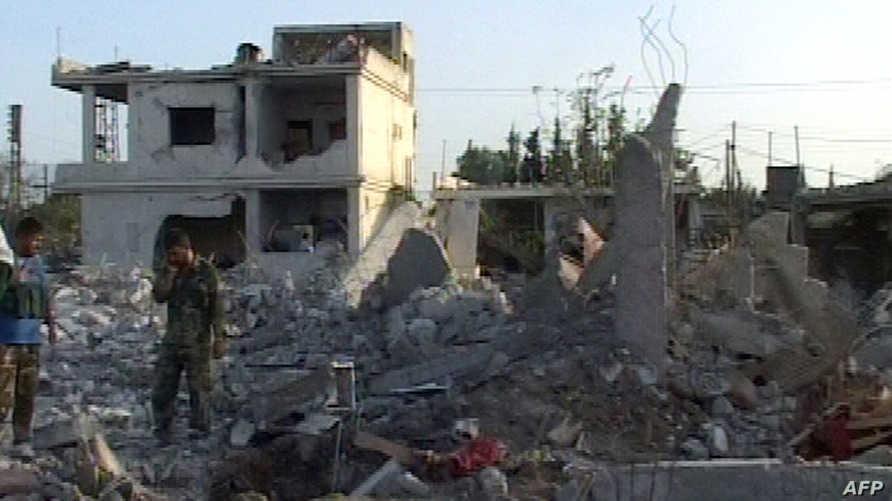 تفجير سابق استهدف بلدة في محافظة حماة