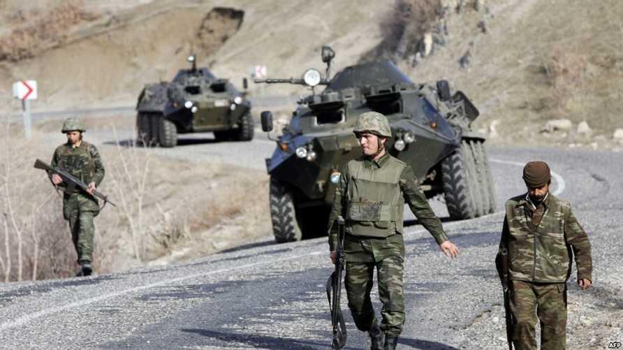 قوات تركية على الحدود التركية-العراقية - العراق - تركيا - واشنطن