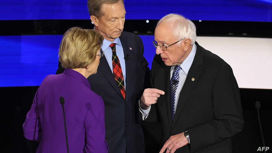 الخلاف بين وارن وساندرز يدور حول جلسة خاصة عقدت في 2018، حيث تقول وارن إن ساندرز صرح خلالها بأنه لن تفوز امرأة بالانتخابات الرئاسية، بينما نفى ساندرز تصريحه بذلك بشكل قاطع.