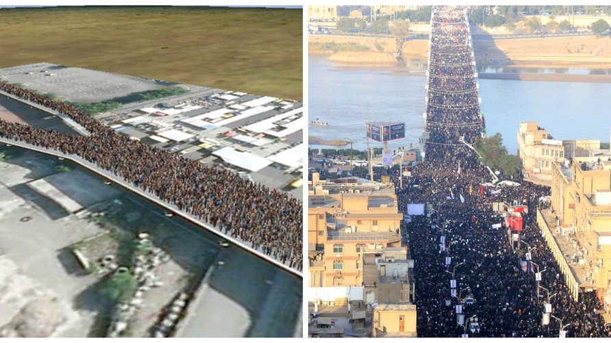 ادعى النظام الإيراني تخطي الحاضرين في جنازة سليماني حاجز المليون فيما فند صحفيون هذا الادعاء