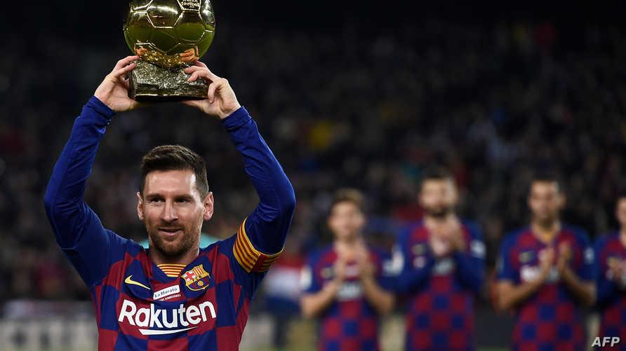 ليونيل ميسي بطل نادي برشلونة الإسباني