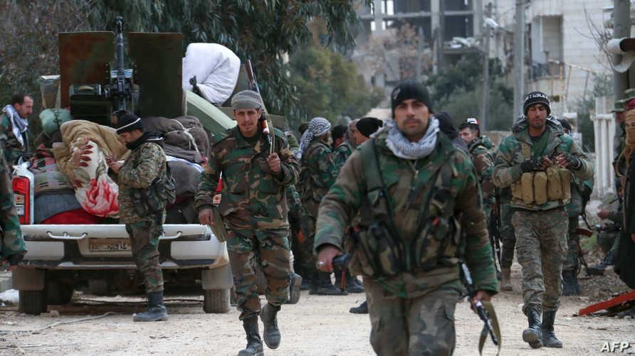 قوات النظام السوري تنتشر في حي رشيدين جنوب غربي حلب- 16 فبراير 2020
