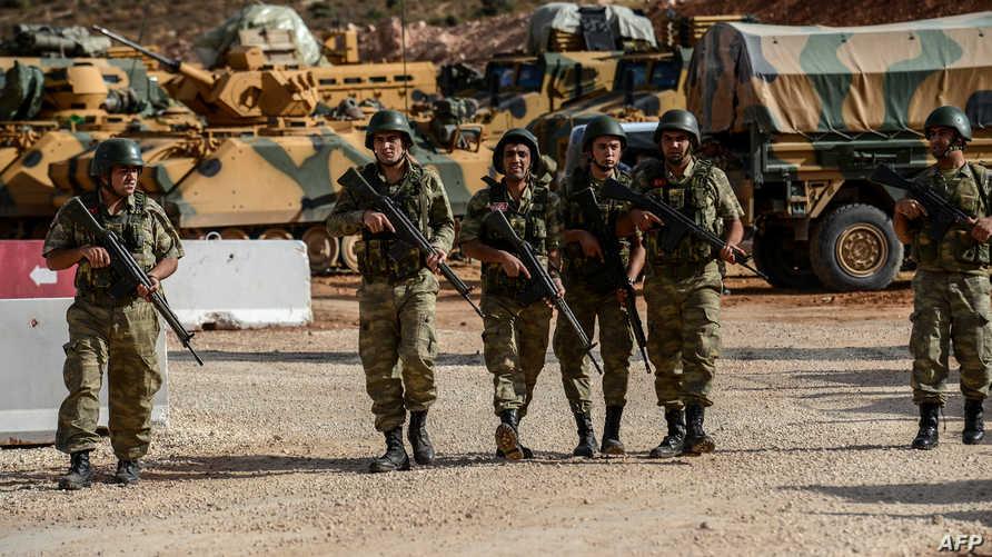 قوات تركية في إحدى مناطق انتشارها إدلب