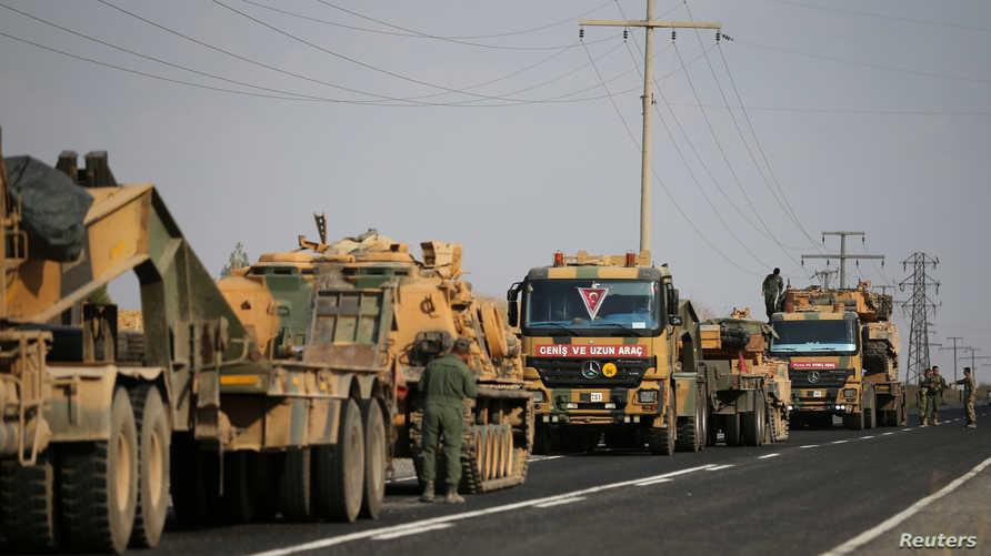 40 آلية عسكرية تركية تدخل إدلب