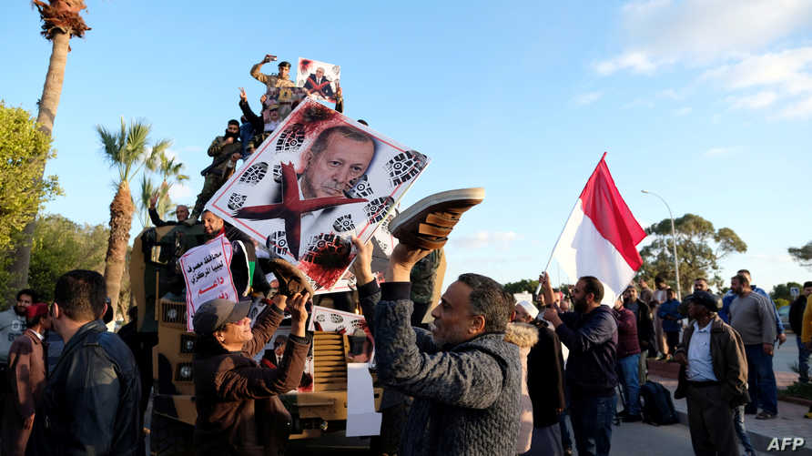 مظاهرات منددة بإردوغان في بنغازي
