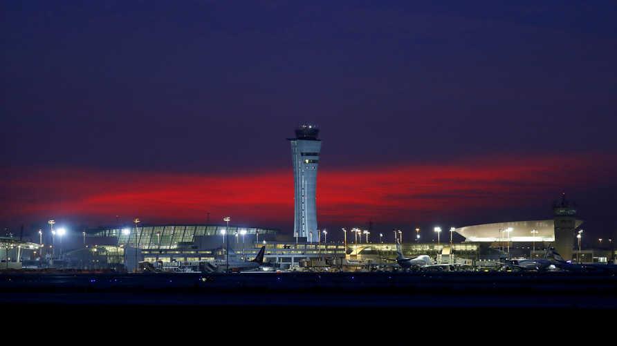 جانب من مطار بن غوريون في تل أبيب