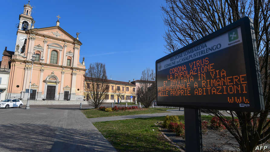 مدن إيطالية تكاد تكون مهجورة ولافتات تحذر من كورونا المستجد