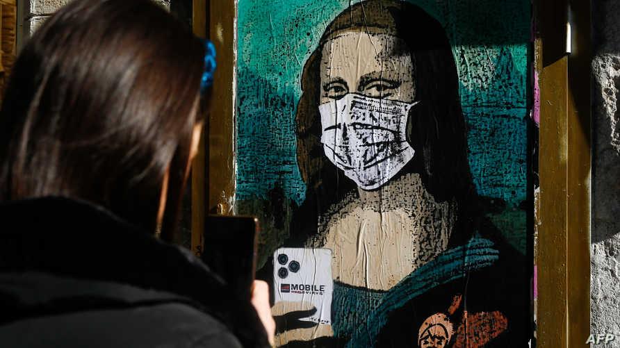 أعمال فنية حيث رسمت لوحات عن فيروس كورونا في إسبانيا