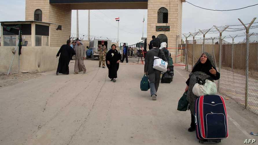 منفذ الشلامجة الحدودي بين العراق وإيران