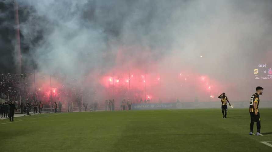 من مباراة أولمبيك آسفي المغربي واتحاد جدة السعودي