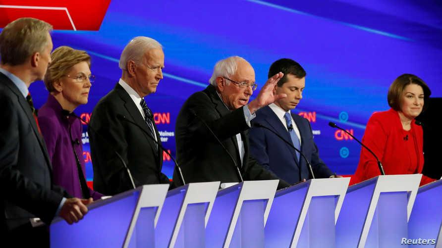 أقرب 10 مرشحين ديقراطيين لمنافسة ترامب