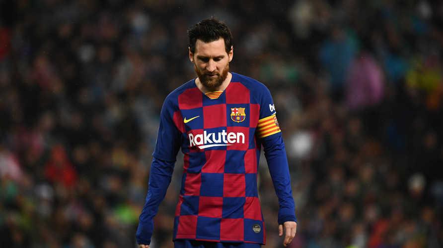 الأرجنتيني ليونيل ميسي قائد فريق برشلونة الإسباني: رواتب اللاعبين ستنخفض 70%