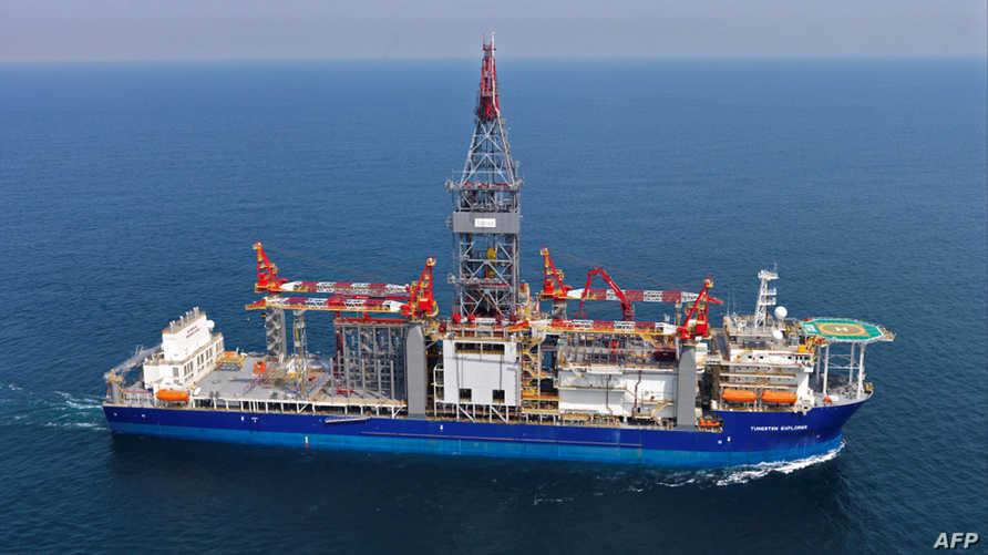 سفينة توتال الفرنسية قبالة السواحل اللبانية الثلاثاء،  فبراير 2020