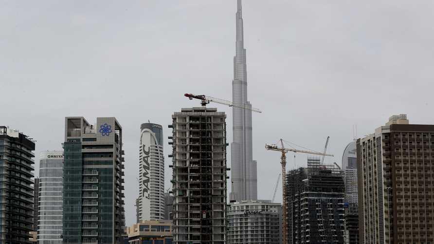 بنايات تابعة لشركة داماك العقارية في دبي. وأعلنت الشركة أول خسارة سنوية لها منذ طرحها للتداول العام