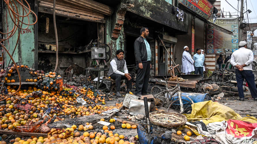 دمر المتطرفون الهندوس ممتلكات بعض المسلمين