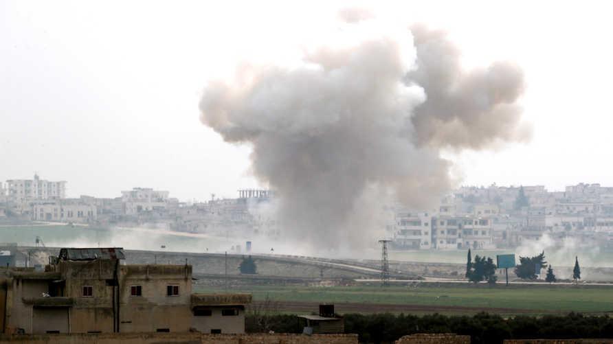 غارة في منطقة سراقب في إدلب