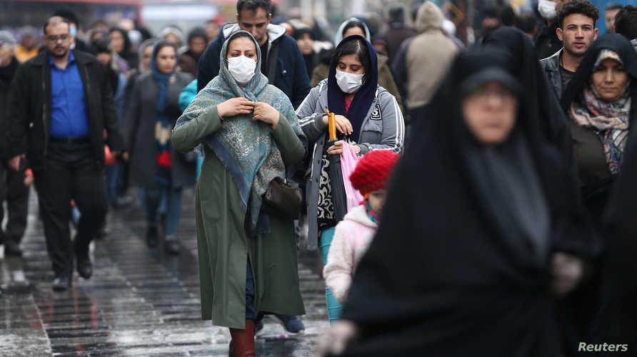 ارتفاع عدد حالات الوفاة بسبب كورونا في إيران