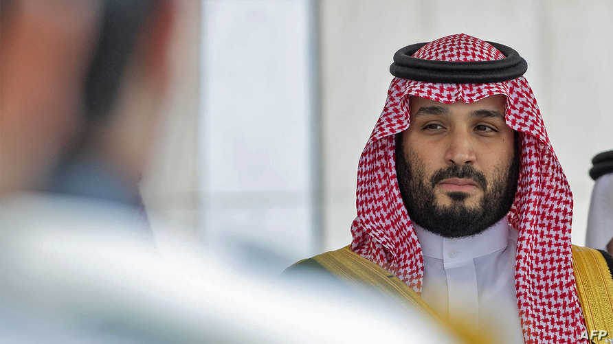A handout picture provided by the Saudi Royal Palace on November 20, 2019, shows Crown Prince Mohammed bin Salman upon his…