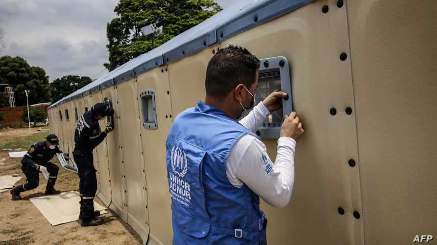 بناء مستشفيات مؤقتة لاستقبال المصابين بفيروس كورونا من الفنزوليين