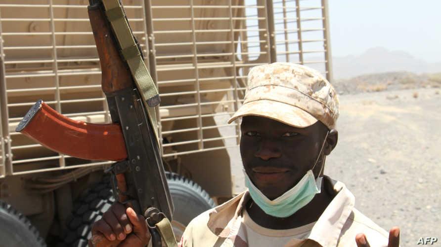 جندي سوداني  مشارك في عاصفة الحزم (أرشيف)