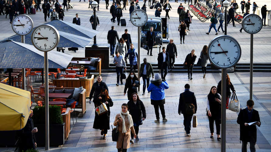 بريطانيا تخسر3 مليار دولار يوميا بسبب إجراءات الإغلاق
