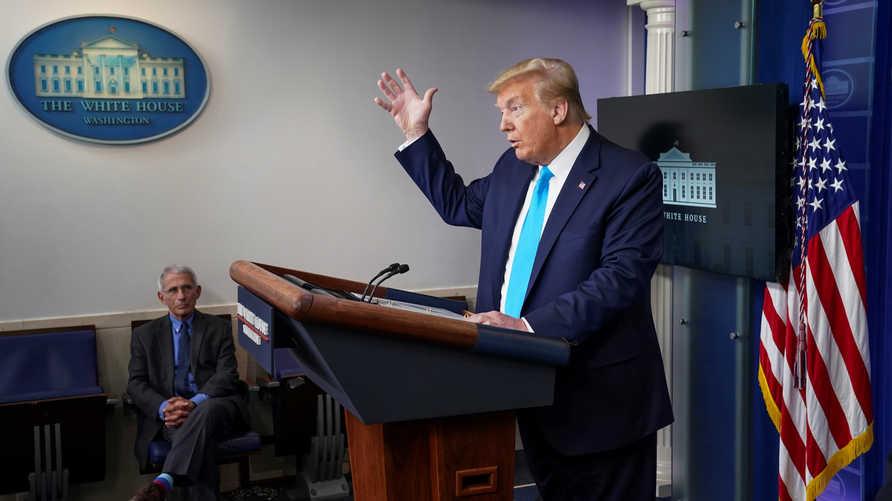 ترامب يعلن أنه يدرس تعليق التمويل الأميركي لمنظمة الصحة العالمية
