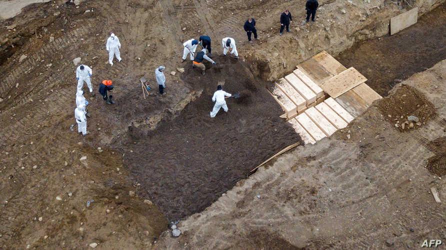 يتم دفن الضحايا في جزيرة هارت في ولاية نيويورك