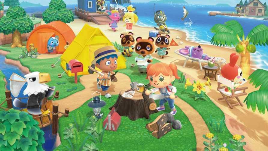 """لقطة من لعبة """"Animal Crossing"""""""